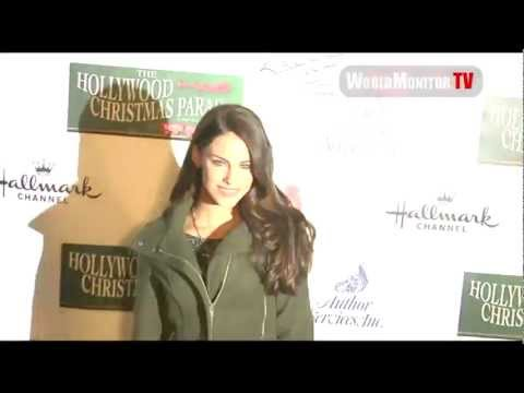 Jessica Lowndes from 90210 arrives at 2012 Hollywood Christmas Parade
