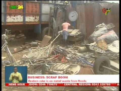 Accra floods: Scrap Business booms