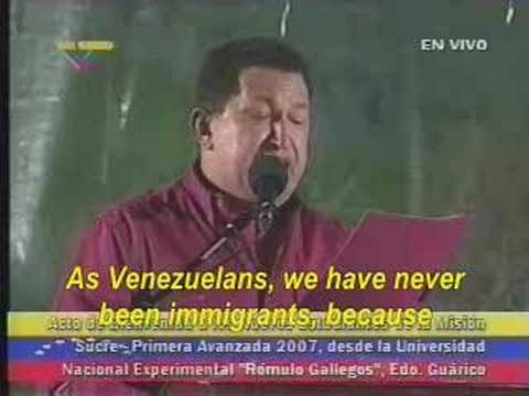 Chavez Talks About Venezuelans Seeking Protection in the US.