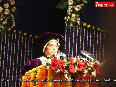 Pranab Mukherjee call for quality education at Diamond jubilee celebrations of BIT-Mesra