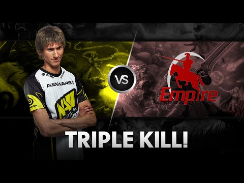 Triple kill by Dendi vs Empire @ D2CL S4