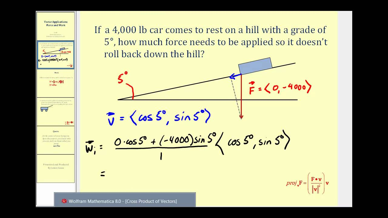 Vector Applications Force and Work  YouTube
