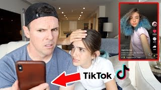 DAD REACTS TO HIS DAUGHTERS TIK TOKS!!
