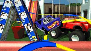 Hot Wheels Stunt Track Driver: The Backyard/Sandbox (Level 5)