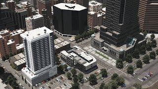 Cities: Skylines - 10 minute cinematic city tour of Downtown and suburbs - The American Dream Series