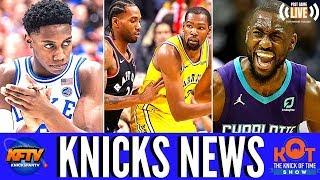 New York Knicks News: RJ Barrett The Next James Harden?!| KD vs Kawhi| Kemba Won't Sign With NYK