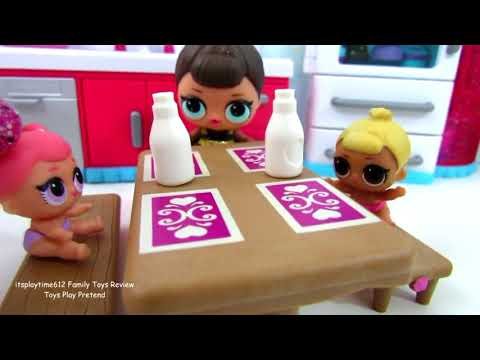 Shopping at Peppa Pig Little Grocery Store with Paw Patrol & LOL Dolls PART 1 | itsplaytime612 Toys