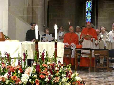Cardinal Maida performs ceremonies at installation ceremony of Archbishop of Detroit Allen Vigneron