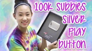 UNBOXING SILVER PLAY BUTTON | TutorialsByA 100,000 Subbies