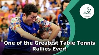 Possibly the Greatest Table Tennis Rally Ever!