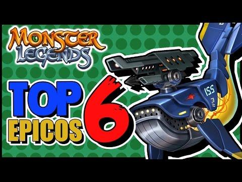 TOP 6 MEJORES MONSTRUOS EPICOS!! - MONSTER LEGENDS RANKING