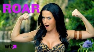 Katy Perry Roars At Tigers In Official Music Video | What's Trending Now