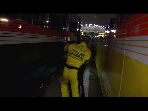 Kenseth vs. Keselowski After Race @ 2014 NASCAR Sprint Cup Charlotte