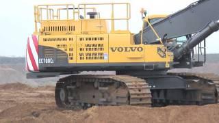 Volvo EC700C Crawler Excavator Breedon Aggregates Digger