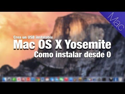 Tutorial para instalar Yosemite Mac OS X desde 0 creando un USB pendrive