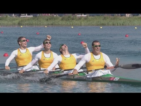 Canoe Sprint Kayak Four (K4) 1000m Men Final A Full Replay -- London 2012 Olympic Games