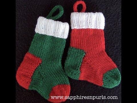 Knitting Pattern Help : Knit a Mini Christmas Stocking - Pattern Help - YouTube