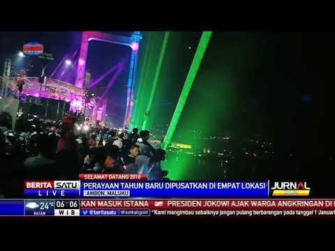 Membludak, Pesta Tahun Baru di Ambon Disebar ke Beberapa Tempat