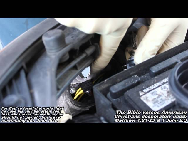 Headlight Bulb Remove Replace 07-10 Hyundai Elantra - YouTube