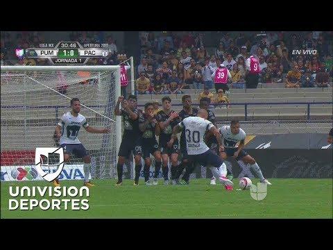 Le pegó como Ronaldinho: Este es el golazo de Nicolás Castillo con los Pumas