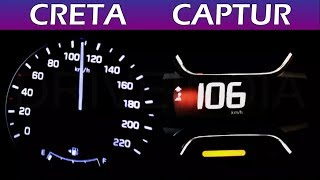 Hyundai Creta vs Renault Captur | 0-100 Speed test | Acceleration