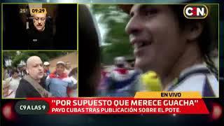 Payo Cubas llegó a la Plaza de Armas