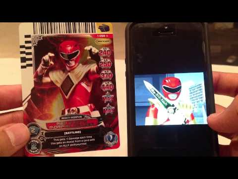 Power Rangers ACG Series 1 Card Scanner Clips (Part 3/4)