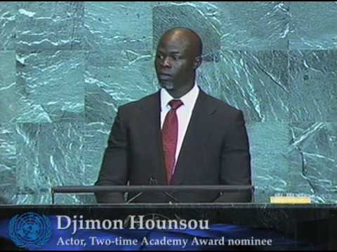 Actor Djimon Hounsou at the UN Summit on Climate Change
