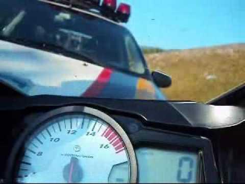 Racha de moto, fugindo da policia e sendo pego [perdeu playboy]