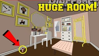 Minecraft: GIANT REAL LIFE BEAUTY ROOM!!