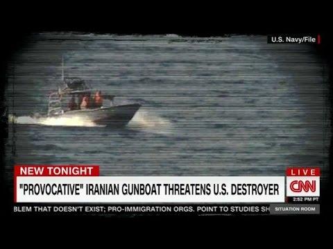 Iran fast attack craft near U.S. destroyer