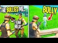 This 9 Year Old Gets BULLIED In Fortnite, So I Helped... (He