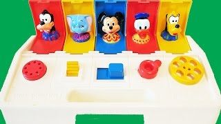 Disney Poppin Pals Pop Up Surprise Toy Teaches Colors Numbers Mickey Mouse
