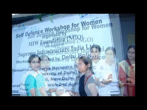 Self Defense Training For Women By Miw Foundation With Supreme Infrastructure India Ltd. video