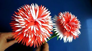 DIY. Paper Craft. VERY EASY!! How to Make Beautiful Paper Flower Stick # 12