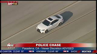 SUSPECT IN CUSTODY: Following second Los Angeles-area police chase in one day (FNN)