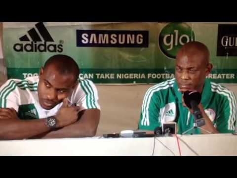 Stephen Keshi forgets after long-winded question
