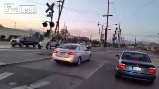 NEW Train Horn Prank at Rail Road Crossing *VOLUME*