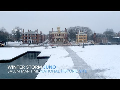 Timelapse of Winter Storm Juno at Salem Maritime National Historic Site HD (2015)