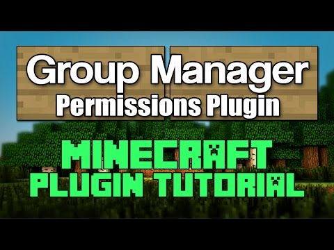 Group Manager 1.12 Plugin Tutorial Minecraft How to Setup