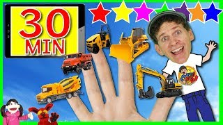 Finger Family Construction + More Kids Songs with Matt | 30 Minutes Compilation