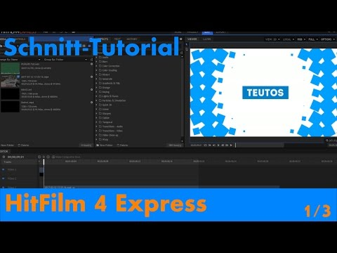 Die Ersten Funktionen - HitFilm 4 Express - [Schnitt-Tutorial 1/3]