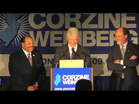 President Bill Clinton visits Little Falls with Jon Corzine