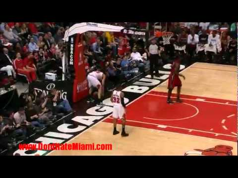 Heat / Bulls Game 2 - Wade Alley-Oop - LeBron MONSTER Dunk - Haslem SLAM