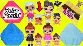 LOL Surprise! Dolls Dig for GOLD and Diamond Gemstones