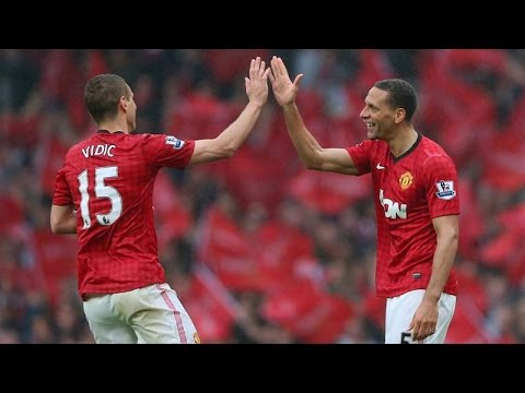 Rio Ferdinand and Nemanja Vidic. Compilation.