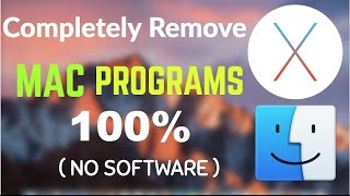 Remove Mac Apps 100% NO Software NEEDED