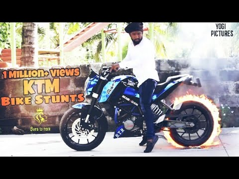 KTM FIRE STUNTS | ADRISH KAZI | STUNTS 2017 | YOGI PICTURES | INDIA |