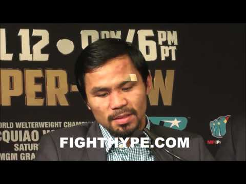 MANNY PACQUIAO DISCUSSES VICTORY OVER TIMOTHY BRADLEY IM SATISFIED