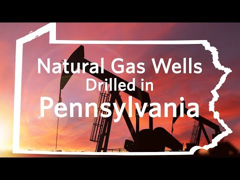 Cumulative natural gas wells drilled in Pennsylvania, January 2005-April 2012